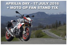 UK Aprilia Day announced + Aprilia Fan Stand tickets at Silverstone